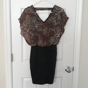 5 for 10, Leopard Dress,  sz large